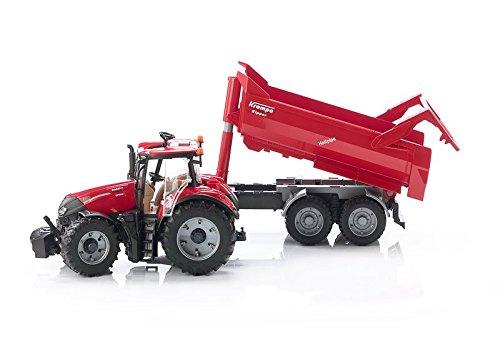 BRUDER Spielzeug Case IH Optum 300 CVX mit Krampe Tandem-Halfpipe-Anhänger 03199 Spielzeugautos