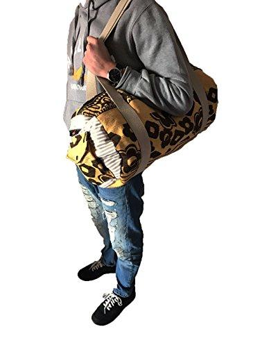 [FLAME] Tasche casual bag Bering für jeden Anlass geeignet, Schulter oder Hand. Reisetasche , Outdoor-Sport. Perfekt als Handgepäck . LIMITED EDITION Baum Silver Side Punkt 009