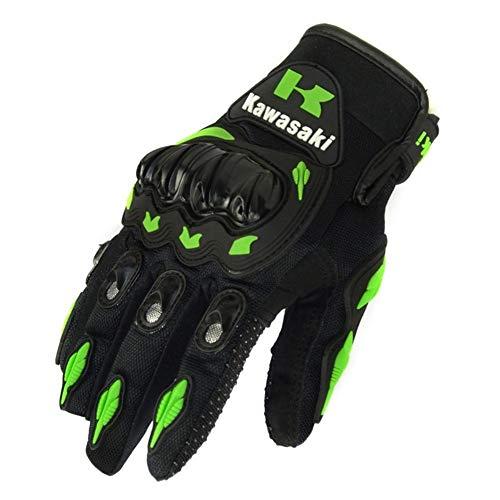 You will think of me Kawasaki Motorradhandschuhe Motocross Guantes Radfahren Mountainbike Handschuhe Motorrad Vollfingerhandschuhe (Color : 1, Size : M)