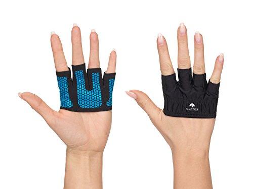 Crosstraining Handschuhe Damen – Kurzfingerhandschuh Perfekt für Krafttraining, Fitnessstudio, Gym, Sport Calisthenics, Kraftsport – Größe Geeignet für Kleine Hände – Farbe Pink und Blau