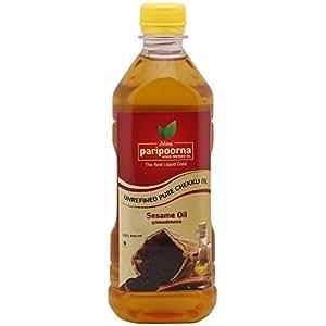 Paripoorna Wood Pressed Sesame Oil (மர செக்கு நல்லெண்ணெய்) , 500 ML
