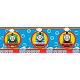 Fun4Walls BO05627 - Cenefa adhesiva (5 m x 18 cm), diseño de tren Thomas y sus amigos