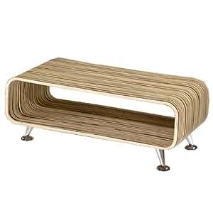 club couchtisch zebrano retro lounge wohnzimmertisch loungetisch tisch zebra k che. Black Bedroom Furniture Sets. Home Design Ideas