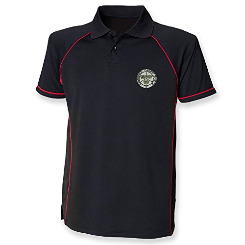 kombiniert Cadet Force Performance Polo Gr. XXL, schwarz/red (Force Performance Polo)