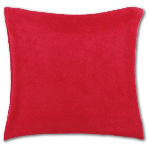 Kissenhülle Kuschel 60x60cm Kissenbezug Dekokissen Auswahl: rot - scarlett ohne Füllung