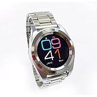 ZfgG Intelligente Uhr Bluetooth 4.0 intelligente Uhr-wasserdichte IP68 Eignung-Verfolger-Uhr mit Herzfrequenz, runder Schirm Android IOS Doppelsystem stilvoll Perfekter Wohnassistent