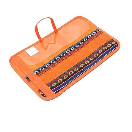 EQLEF® Cutlery Set Bag, Portable Fork Knife Storage Bag Folding Camping Tableware Bag For Kitchen Outdoor Picnic BBQ, 12 Slots Utensil Storage Bag