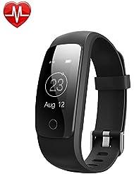 ZoiyTop Herzfrequenz Smart-Armband Sport Fitness Schrittzähler Kalorien drahtloser Schrittzähler Sportmonitor Gesundheit Schlafmonitor für Android iOS Handy