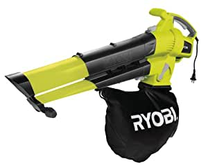 Ryobi Variable Speed Electric Blower Vacuum with Power Mulching, 3000 W