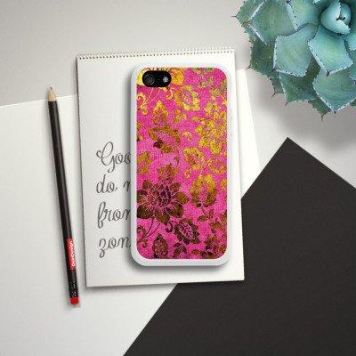 Apple iPhone 6 Plus Housse étui coque protection Rétro couleurs Fleurs Housse en silicone blanc