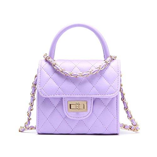 GBT 2016 Neue Schulter-Beutel-Dame-Handtaschen-Art- und Weiseboutique-Paket purple (6932)