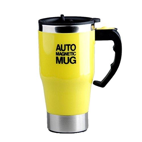 QLL Botella de Agua Taza magnética Auto - Taza de café del imán del Stirring del uno Mismo del Acero...