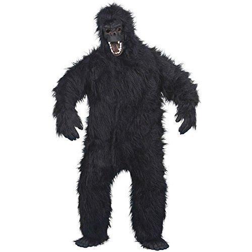 Herren Anzug schwarz Gorilla Kostüm Eine Größe passend für die meisten