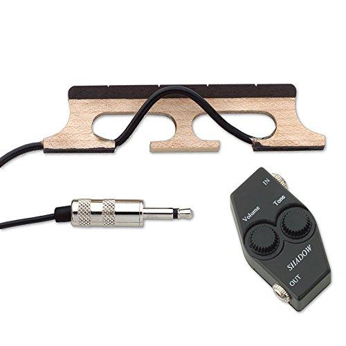 Shadow Steg-Tonabnehmer für 5-Saiten-Banjo mit Lautstärke- und Tonregler