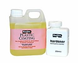 Rustins PCGL1000 1L Plastic Coating and Hardener Gloss