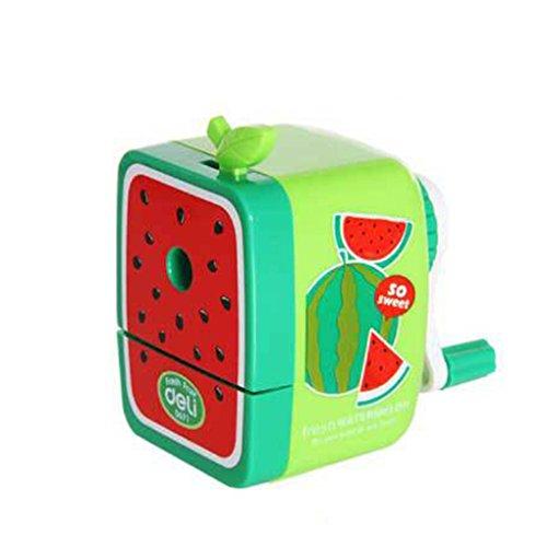QHGstore Frutta temperamatite della manovella scuola Desktop Manuale cancelleria bambini Anguria - Frutta Cancelleria