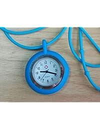 GYPO - Reloj de Pulsera para Enfermera, Unisex, con Correa de Gel de sílice (Azul)
