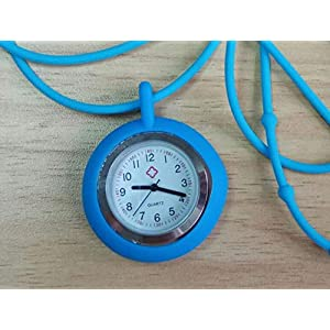 GYPO Krankenschwestern-Armbanduhr, Unisex, Krankenschwestern-Armbanduhr, Kieselgel, Halskette, Seil (Blau)