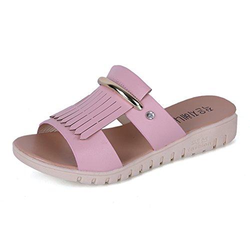 Moda Piatto Infradito In Estate/Studenti Indossando Pantofole C