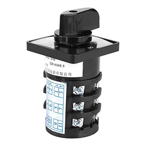 Nitrip 7-Position 500V 20A 12 Klemmen Verriegelungstyp 0-1-2-3-4-5-6 Nockenumschalt-Steuerschalter Component A/v-selector