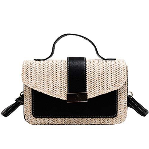 OIKAY Mode Damen Tasche Handtasche Schultertasche Umhängetasche Mode Neue Handtasche Frauen Umhängetasche Schultertasche Strand Elegant Tasche Mädchen 0605@079