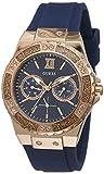 Guess Damen Analog Quarz Uhr mit Silikon Armband W1053L1