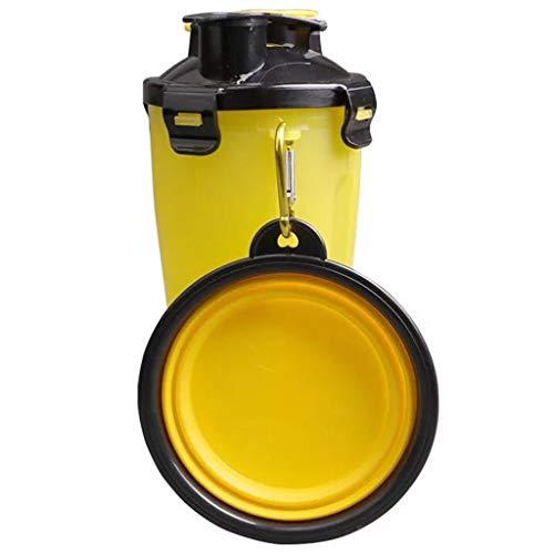 Lebensmittelfass Pet Storage Katze und Hund Korn Barrel Abdichtung Barrel für Outdoor Indoor Cat Food Box Storage Barrel Dosen von Storage Grain Tank (Farbe : Gelb) -