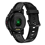 G01 GPS Sport wasserdicht Smartwatch Anrufnachricht BT4.0 Herzfrequenz Anti-verlorene Remote-Kamera,Blutdruck,Schrittzähler , Blutsauerstoff kompatibel mit iPhone Android Handy (Grau)