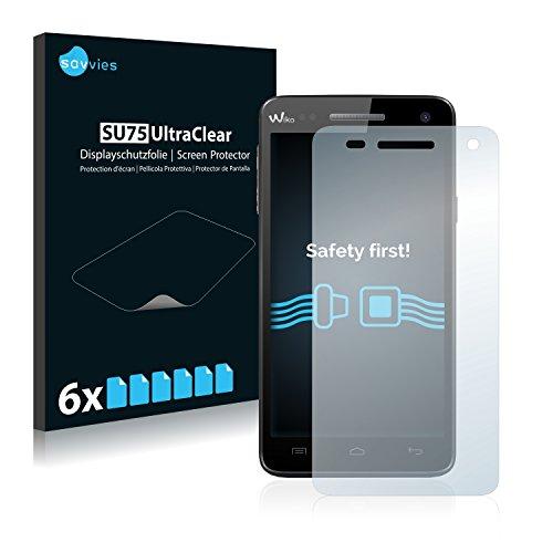 Savvies Schutzfolie kompatibel mit Wiko Rainbow/Rainbow 4G [6er Pack] - klarer Bildschirmschutz