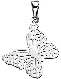 Gran concentrarme adornado la mariposa-llavero, esterlina-plata 925