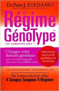 Le régime Génotype : Changez votre destinée génétique pour vivre plus longtemps, plus mince et en meilleure santé de Peter J. d' Adamo ,Joëlle Touati (Traduction) ( 6 novembre 2008 )