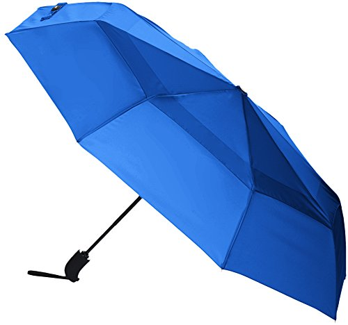 AmazonBasics Automatic Open Travel Umbrella with Wind Vent - Royal Blue