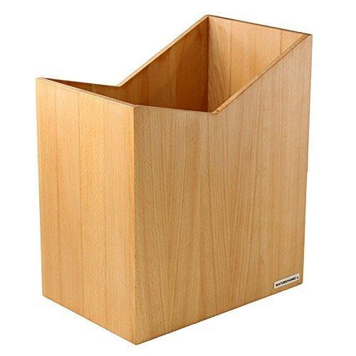 NATUREHOME Papierkorb SKRIPT aus Holz ohne Deckel I Papiereimer oder Mülleimer für Büro, Bad und Wohnzimmer aus Buchen-Holz Natur geölt I verarbeitet aus hochwertige Materialien im modernem Design