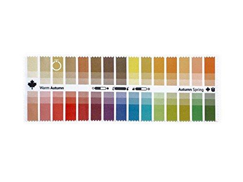 Stoff-Farbpass Herbst-Frühling (Warm Autumn) mit 30 typgerechten Farben zur Farbanalyse, Farbberatung, Stilberatung (Farben Herbst)