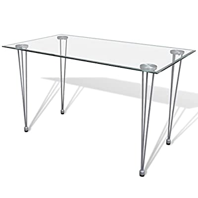 vidaXL Transparent Glass Top Dining Table produced by vidaXL - quick delivery from UK.