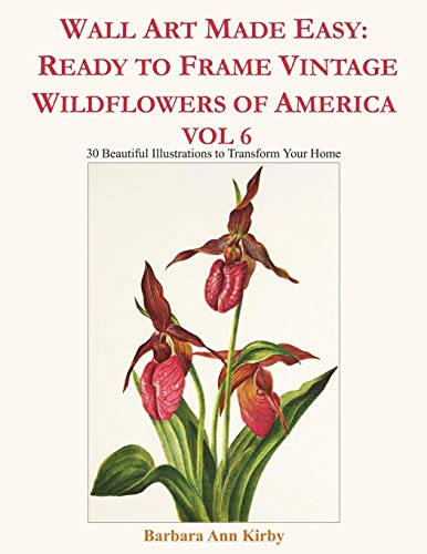 Wall Art Made Easy: Ready to Frame Vintage Wildflowers of America Vol 6: 30 Beautiful Illustrations to Transform Your Home (Mariposa Kostüm)