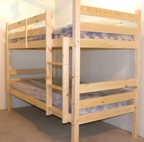 Heavy Duty Bunk Bed - 2ft 6 small single solid pine bunk bed - Can be used by adults - VERY STRONG