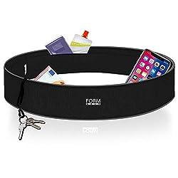 Formbelt® Laufgürtel für Handy Smartphone iPhone 8 X XS Max XR 6-s 7+ Plus Samsung Galaxy S7 S8 S9 S10 + Hüfttasche für Running Sport Fitness Bauchtasche Laufen (schwarz, L)