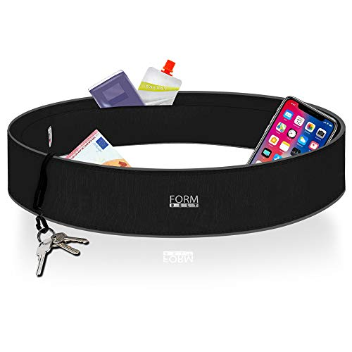 Formbelt® Laufgürtel für Handy Smartphone iPhone 8 X XS Max XR 6-s 7+ Plus Samsung Galaxy S7 S8 S9 S10 Edge Hüfttasche für Running Sport Fitness Bauchtasche Laufen (schwarz, L)