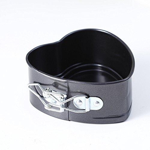Homeself pesante carbonio antiaderente teglia cuore torta Pan con fondo estraibile liscia 9''