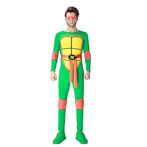 ZSDFGH Ninja Turtles Kostim Erwachsene/Ninja Turtles Kostüm/Ninja Kostüm/Karneval Kostüm,Orange
