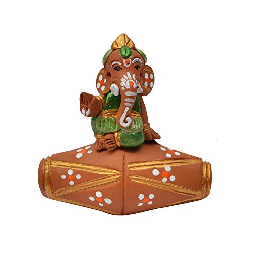 ExclusiveLane Terracotta Handpainted Dholak Baby Ganesha - Showpieces Gift Items  available at amazon for Rs.465