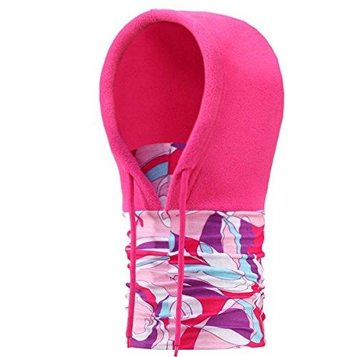 Vlies-haube Hat (Butterme Thermische Vlies Gesichtsmaske Halswärmer Ski Haube Snowboard Maske Windschutz Balaclava Hat (Heißes Rosa))