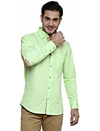 DAZZIO Solid Slim Fit Green Casual Shirt (Please Refer Size Chart)