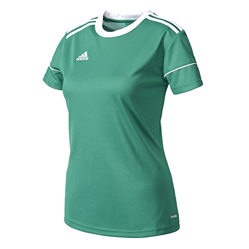 Adidas Squad 17 JSY W Camiseta, Mujer, Verde Verfue/Blanco, XS