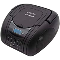 Lauson Lettore CD / MP3, radio FM / PLL stereo portatile, lettore USB, schermo LCD, colore nero