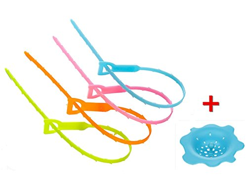 mumutips-508-cm-haar-ablauf-verstopfen-entferner-flexibel-ablauf-4-haken-und-1-silikon-spule-filter-