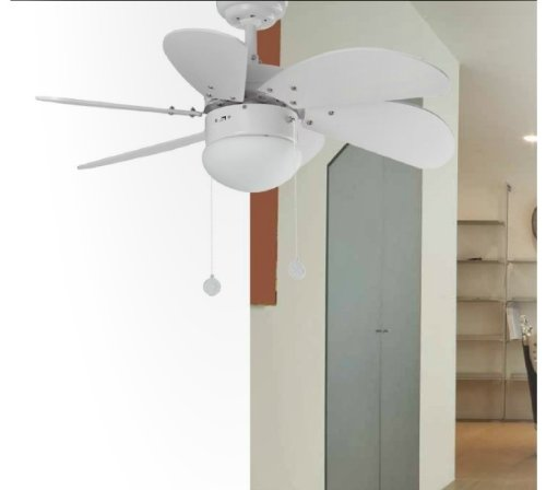 41CEiRZ Q9L - Faro Barcelona Palao 33180 – Fan with Light, 40 W, Steel, MDF Blades and Opal Glass Diffuser, White