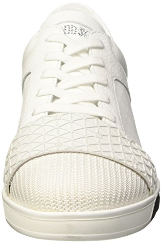 Bikkembergs Olimpian 291 L.Shoe M Leather/Lycra, chaussures basses Homme Blanc Cassé (White/Origami Effect)