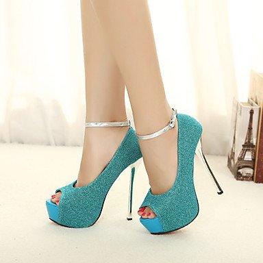 Moda Donna Sandali Sexy donna tacchi Primavera / Estate Autunno / Piattaforma / cinturino alla caviglia Glitter Wedding / Party & Sera / Casual Stiletto HeelSparkling Glitter / Black